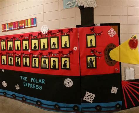 office decorated in the polar express express doors polar express