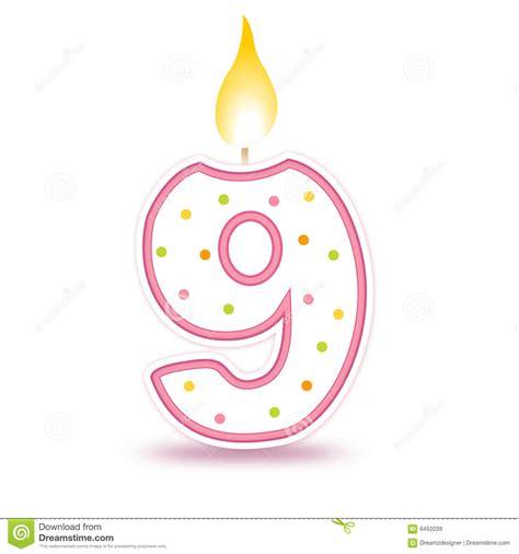 immagini candela candela di compleanno 9 illustrazione vettoriale