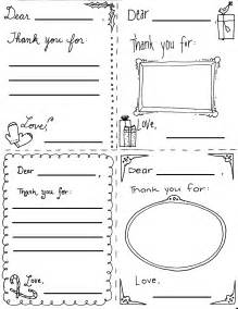 quot thank you quot cards coloring sheets