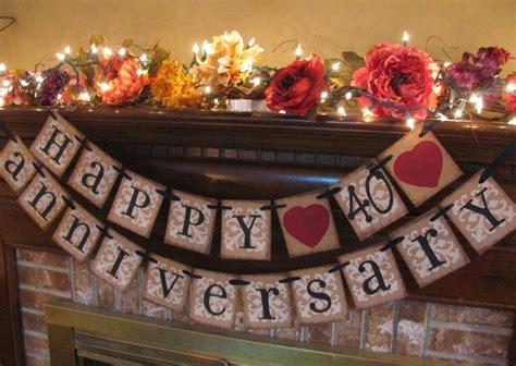 40th anniversary theme ideas 40th 40th wedding anniversary ruby wedding anniversary
