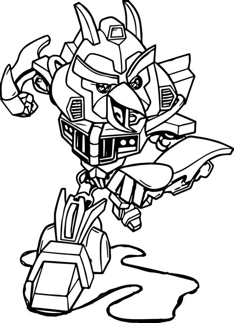 coloring pages transformers angry birds angry bird bumblebee coloring page wecoloringpage
