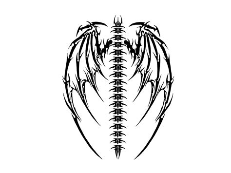 gothic dragon tattoo designs drawing ideas at getdrawings free for