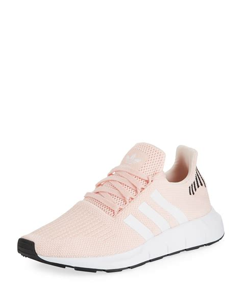 adidas womens swift run trainer sneakers icey pink