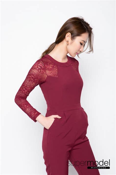 Big Sale Promo Songket Sadum Maroon igabel lace inserted jumpsuit maroon 50 discount big sale