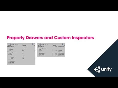 unity property drawer layout unity property drawers custom inspectors