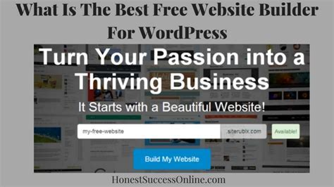 What Is The Best Free Website Builder For WordPress