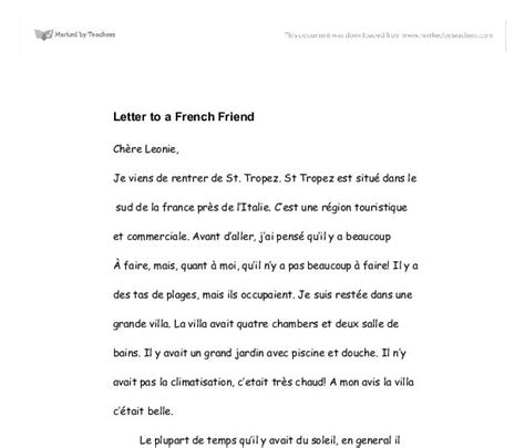 letter layout french how to write a letter in french friend exle cover