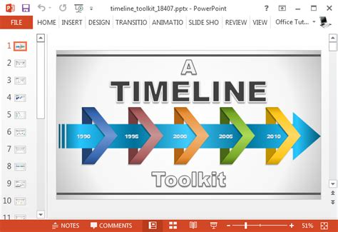 powerpoint template creator animated timeline maker template for powerpoint