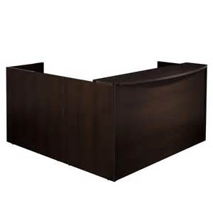 Receptions Desks New Napa Espresso L Shape Office Reception Desk For Receptionist Room Ebay