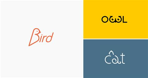 web design font name clever animal logos that show their shapes within their names