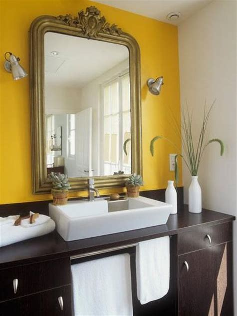 bright yellow bathroom trending in bathroom design yellow bathrooms rotator rod
