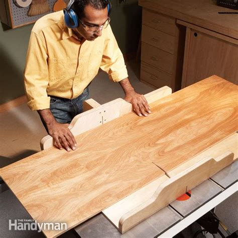 how to build a sled for table saw build a table saw sled the family handyman