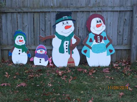 wood yard patterns holiday outdoor snowman family wood yard by chartinisyardart