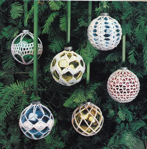 crochet christmas ornament covers vintage crocheting pdf