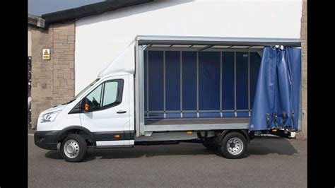 vans with curtains hire a ford transit curtain side van youtube