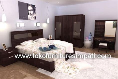Ranjang Rak Sepatu Nakas Bedroom Set Mini kamar set ontario toko kasur bed murah simpati