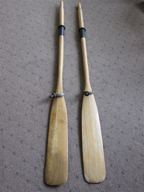 metal boat oars lot detail row row row your boat a pair of wooden