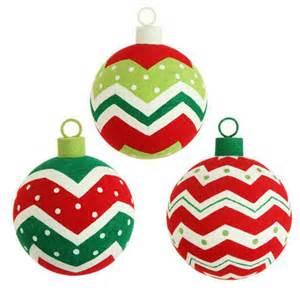 Raz 5 quot flocked chevron ball ornament set of 3