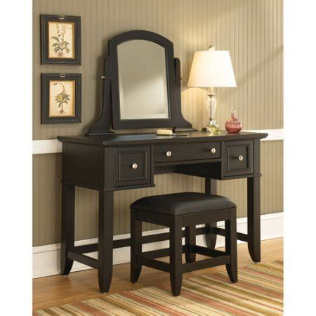 vanity table with mirror and bench home styles bedford vanity table mirror and bench black