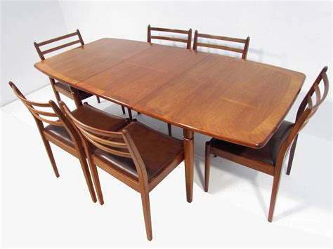 A Good Retro Teak Dining Table And Six Chairs By G Plan Ebay G Plan Teak Dining Table