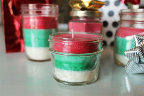 christmas candles diy diy gift idea striped multi scented candles