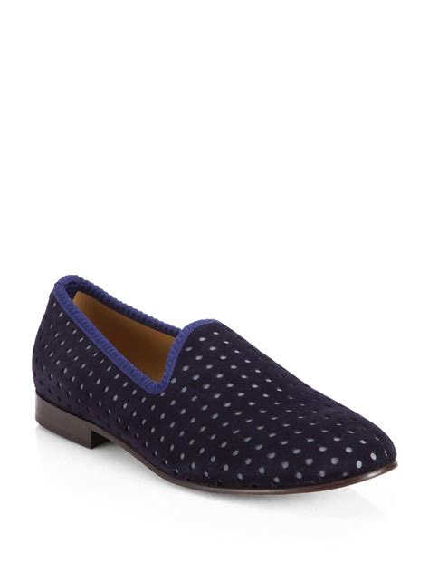 toro slippers mens toro suede prince slippers in blue for lyst