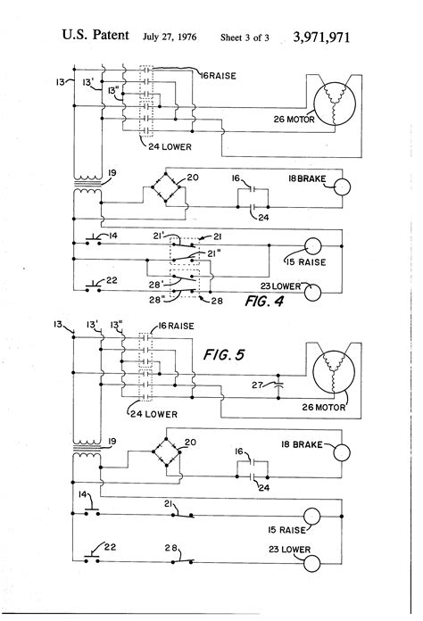 patent us3971971 electric hoist and braking