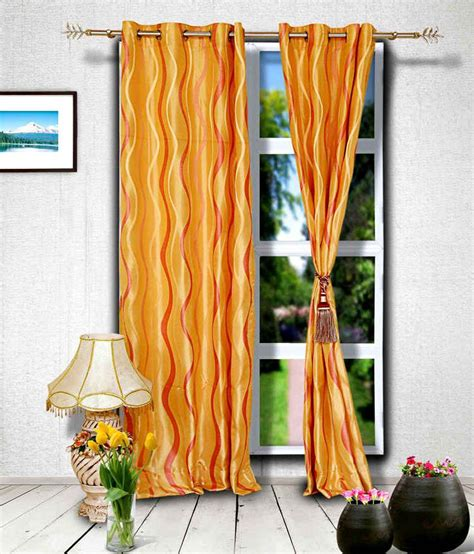 orange and gold curtains muskaan gold orange contemporary blends eyelet curtain