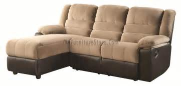Sectional Sofa With Recliner And Chaise Lounge Huxley Two Tone Sectional Sofa With One Reclining Seat And Chaise Lounge 600070