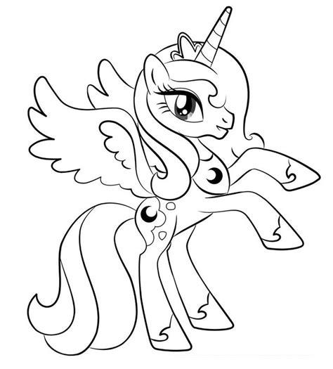 coloring pages pony princes luna kolorowanki z luną z przyjaźń to magia