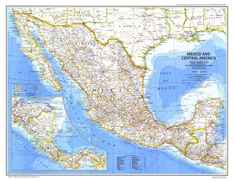 mexico america map mexico and central america map 1980 maps