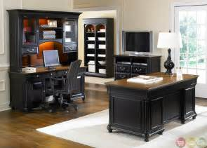 st ives traditional executive home office furniture desk set - Executive Office Furniture Set