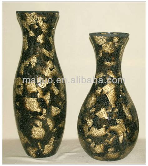 Mirror Mosaic Vase by Mirrored Mosaic Vase Buy Crackle Glass Vase Big Vases