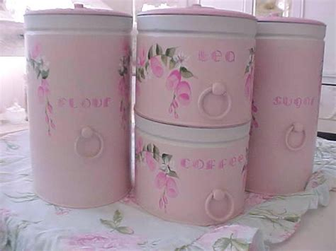 canisters glamorous pink kitchen canisters glass kitchen