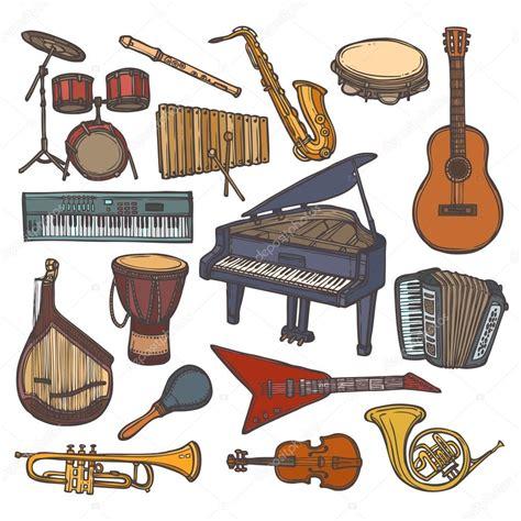 imagenes instrumentos musicales violin icono de esbozo de instrumentos musicales vector de