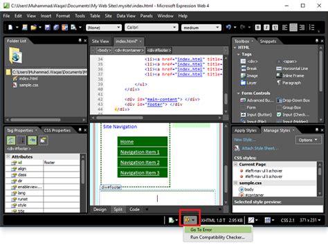 Format Html Expression Web | 마이크로 소프트 익스프레션 웹 퀵 가이드
