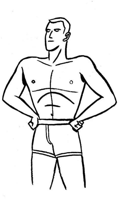 Dibujos Para Nios De Hombres Para Colorear Pintar | calzoncilloboxer dibujo de hombre en ropa interior para