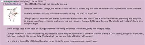 courage to know theory of courage the cowardly dog theory fantheories
