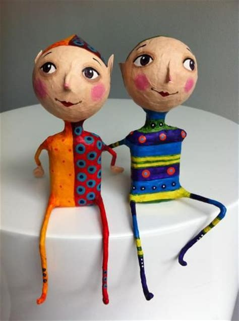 How To Make A Paper Mache Doll - quot elves quot by gustavo ramirez these paper mache guys