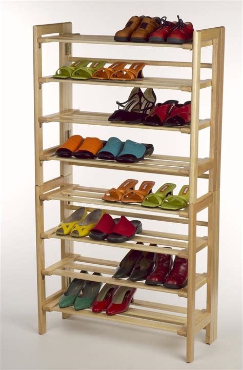 shoe racks for closets wood ideas advices for closet