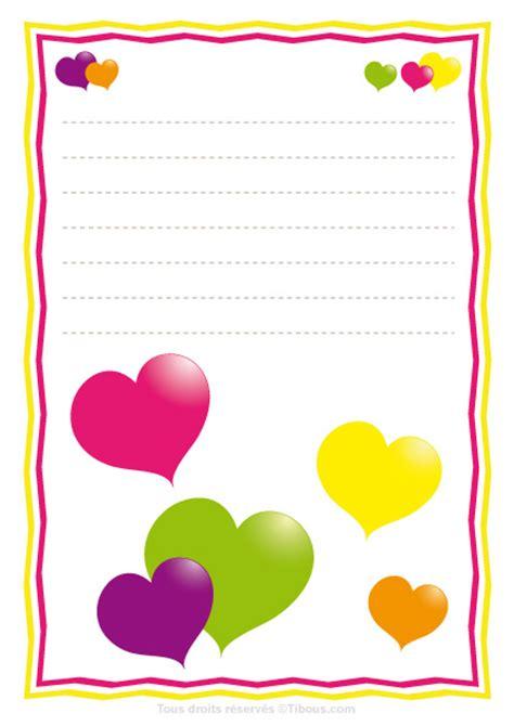 Exemple De Lettre St Valentin Contes Pour Enfants Papier 224 Lettre Valentin Gros Coeurs En Couleurs Tibous Contes