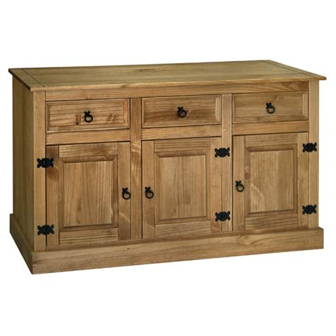 gardens and homes direct santa fe 3 door 3 drawer pine