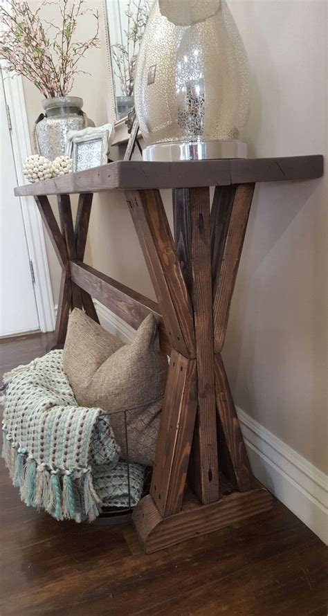 how to an entry table rustic farmhouse entryway table entryway tables and etsy