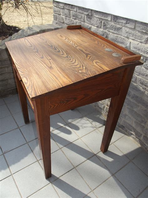 antique oak school desk secondhand pursuit