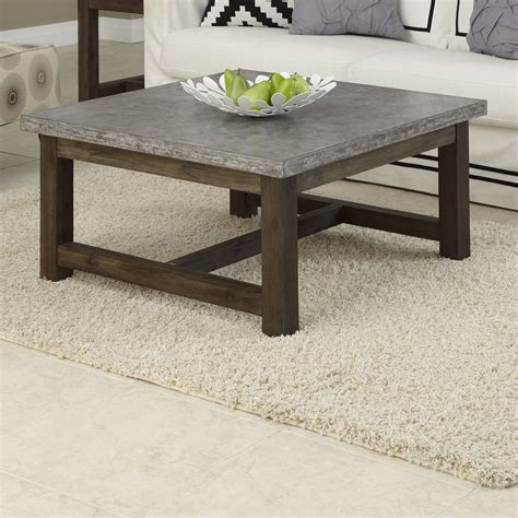 concrete top coffee table concrete coffee tables you can buy or build yourself