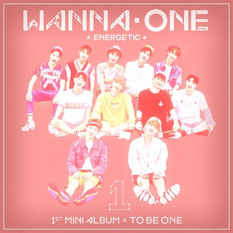 one x album wanna one energetic to be one 1x1 1 album cover by