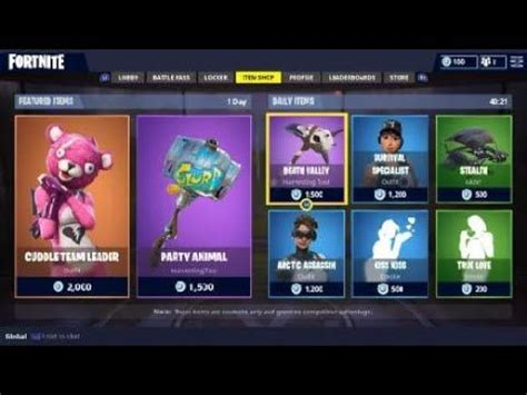 Sho Bsy Daily fortnite daily shop items today february 11th