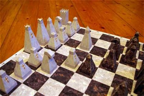 Chess Papercraft - diy board chess set paper model pepakura corner
