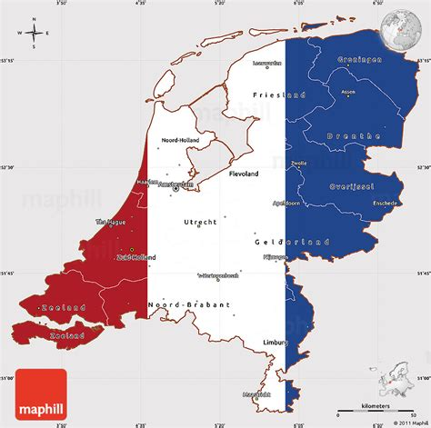 netherlands map and flag flags netherlands map