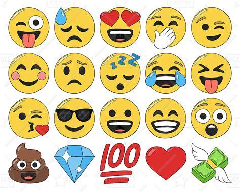 imagenes emoji para imprimir emoji clipart vector pack smiley faces clipart hand